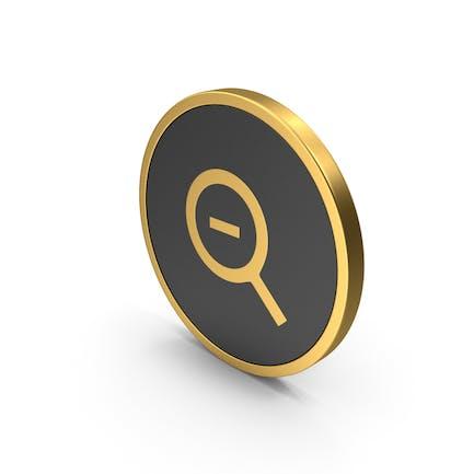 Acercar el icono dorado