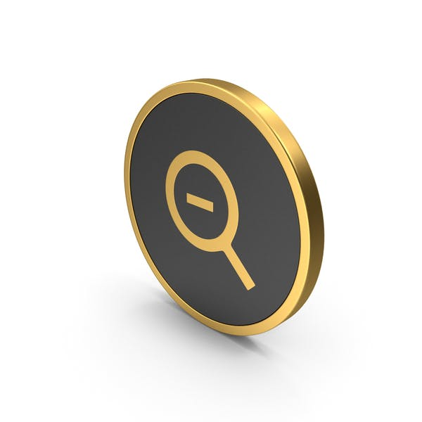 Gold Icon Zoom Out