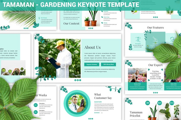 Thumbnail for Tamaman - Gardening Keynote Template