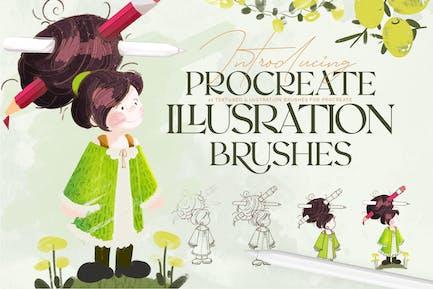 Illustration Brushes: Procreate Brushes