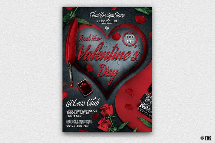 Thumbnail for Rock Your Valentine Flyer Template
