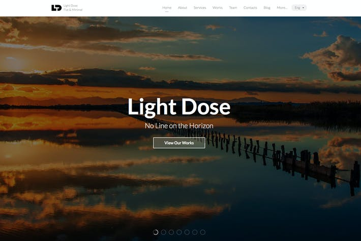 Thumbnail for LightDose — Flat&Minimal Responsive HTML Template