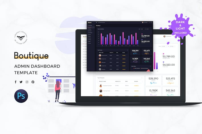 Thumbnail for Boutique Admin Dashboard UI Kit