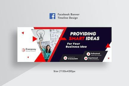 Werbe Unternehmens- & Business Facebook-Timeline