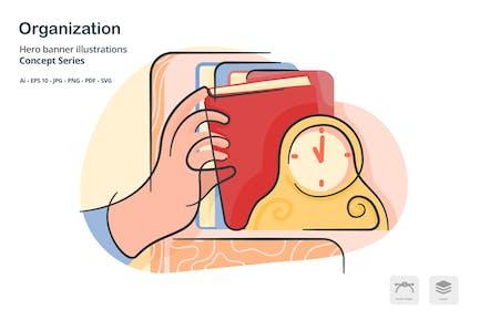 Organization Filing Vector Illustration