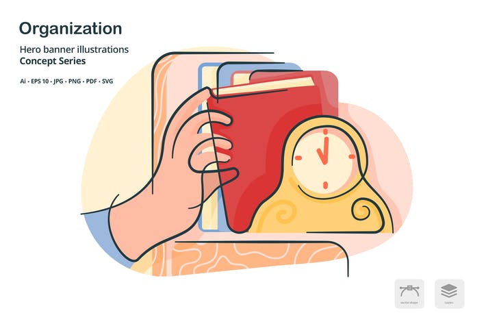 Thumbnail for Organization Filing Vector Illustration