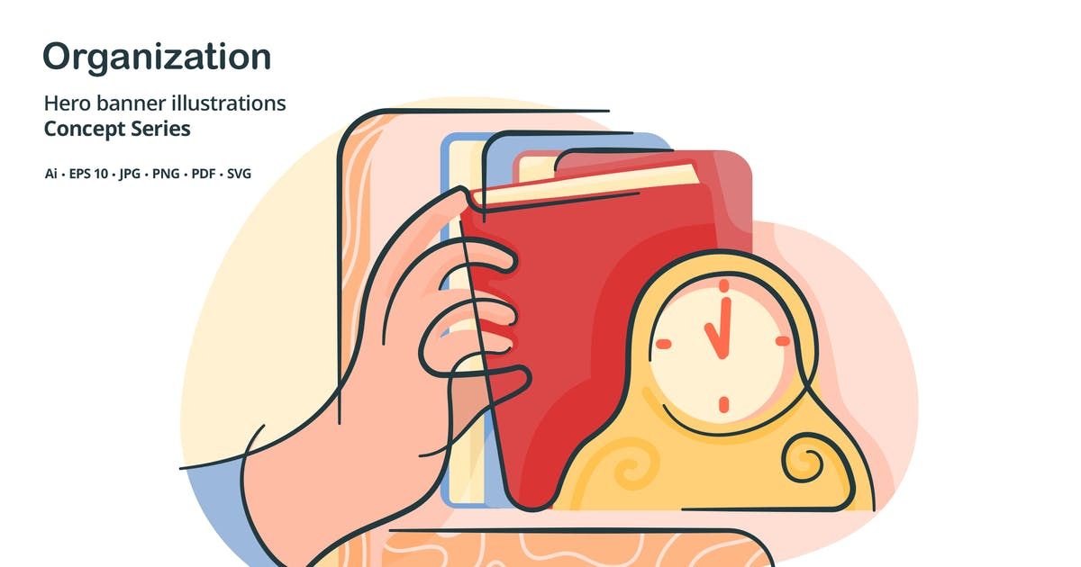 Organization Filing Vector Illustration by roundicons