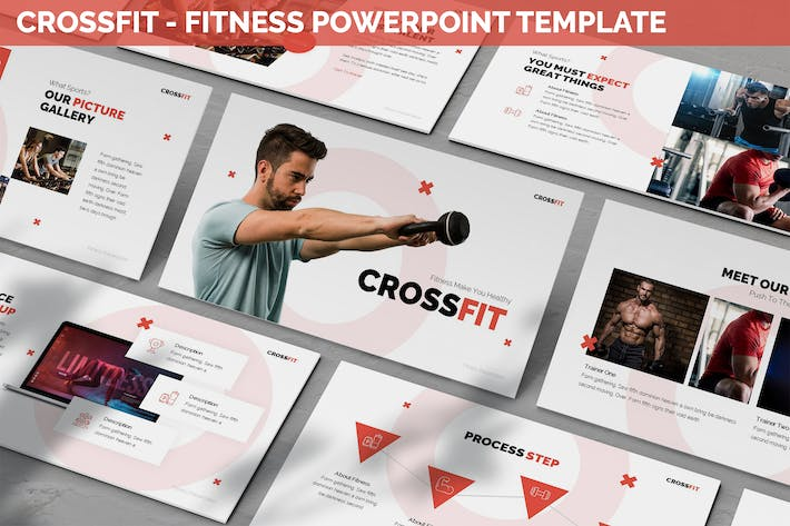 Thumbnail for Crossfit - Fitness Powerpoint Template