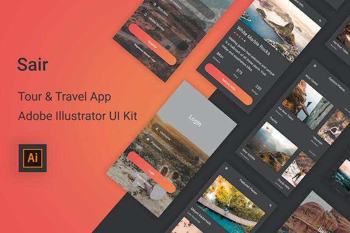 Thumbnail for Sair - Tour & Travel Illustrator UI Kit