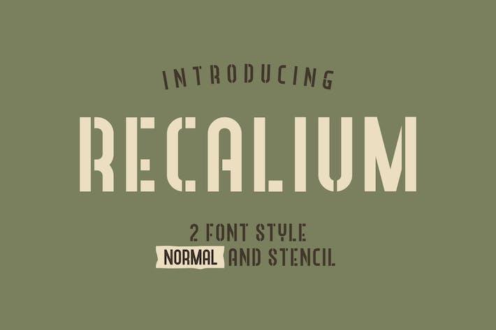 Thumbnail for Plantilla Recalium Sans Con serifa
