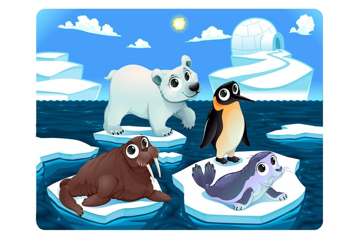 Thumbnail for Polar Animals on the Ice