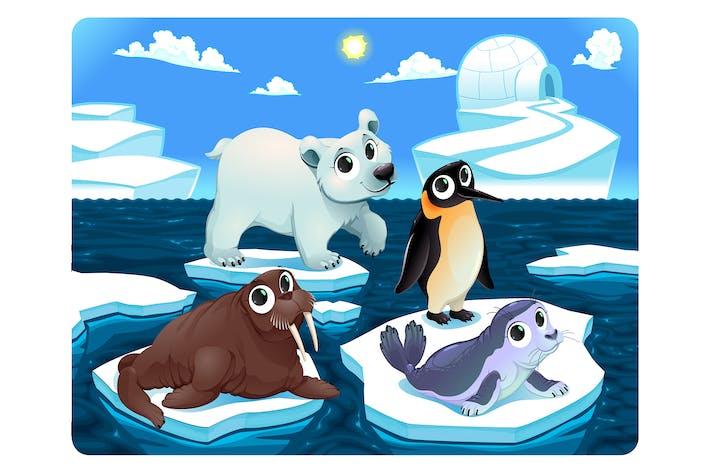 Thumbnail for Animaux polaires sur la glace