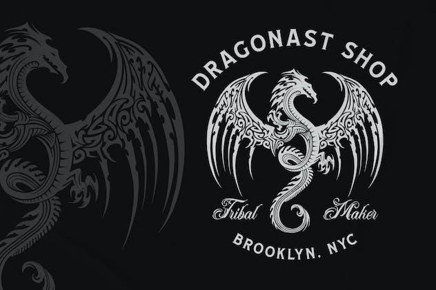 Dragon Tribal - Tattoo Logo