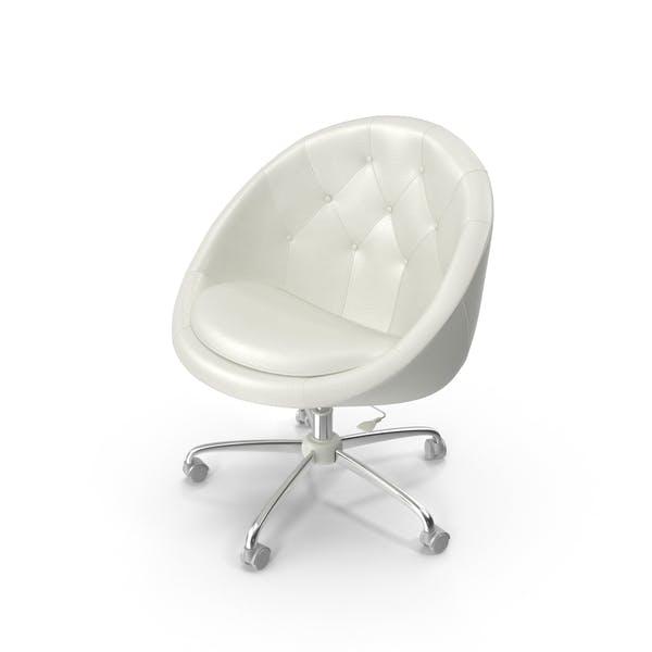 Thumbnail for White Swivel Chair