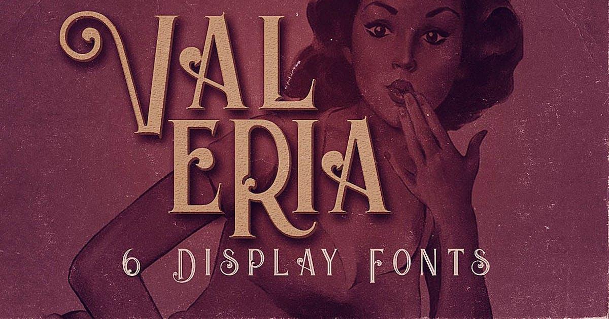 Download Valeria - Display Font by cruzine