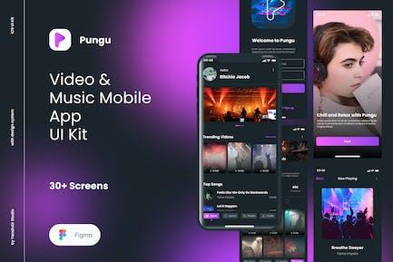 Pungu  - Video & Music Player App UI Kit