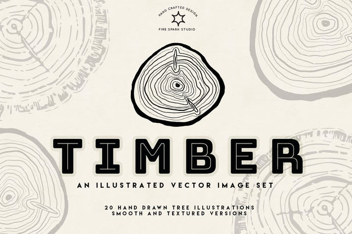 Thumbnail for Timber Vector Tree Ring Illustrations