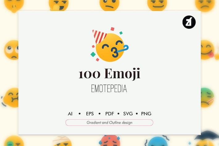 100 Emoji-Symbolpaket