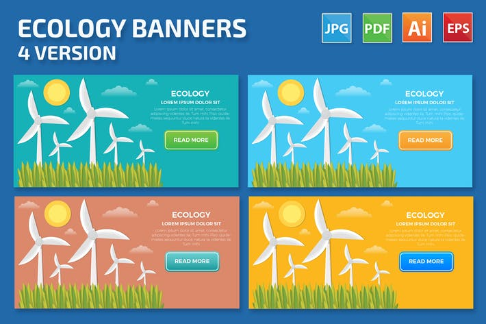Thumbnail for Wind Turbine Banners Design