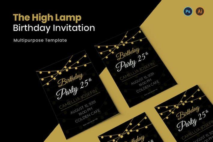 High Lamp Birthday Invitation