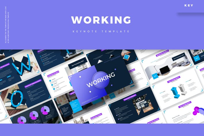 Thumbnail for Working - Keynote Template
