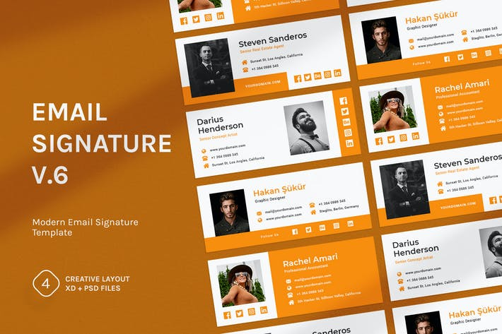 Thumbnail for Email Signature v.6