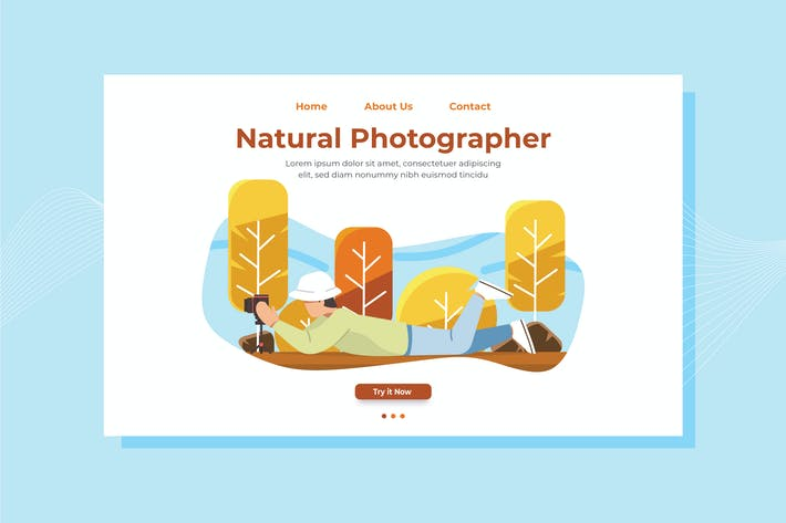 Thumbnail for Natural Photographer Landing Page Illustration