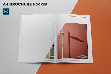 A4 Brochure Mockup Top View