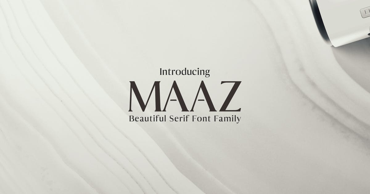 Download Maaz Serif Fonts Family Pack by creativetacos