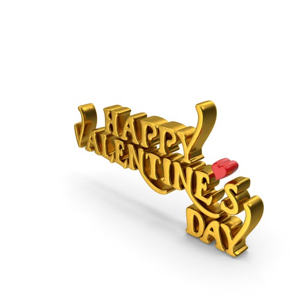 Happy Valentine's Day Gold