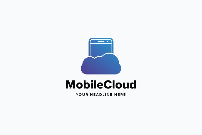 Thumbnail for Mobile Cloud Logo Template