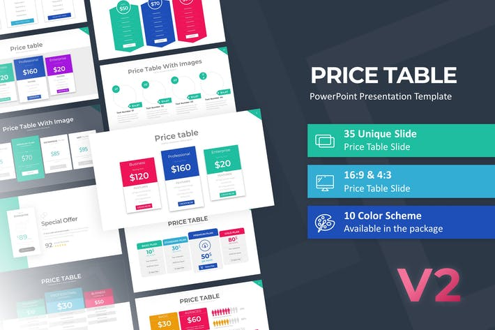 Thumbnail for Price Table PowerPoint Template