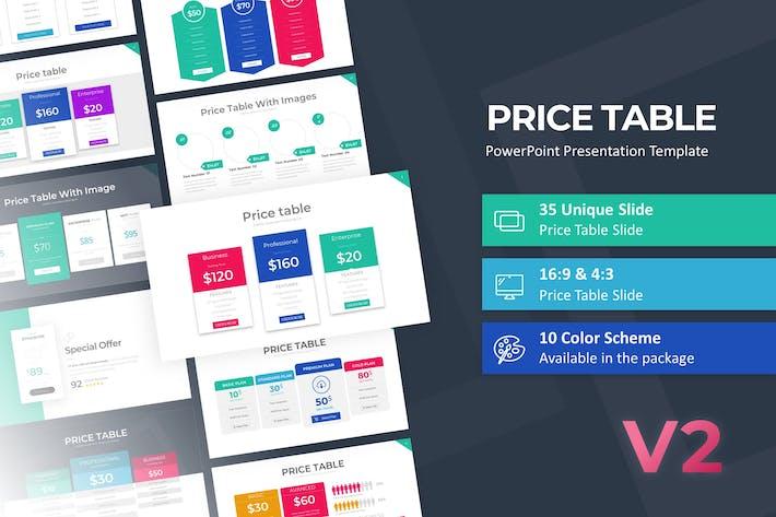Шаблон таблицы цен PowerPoint