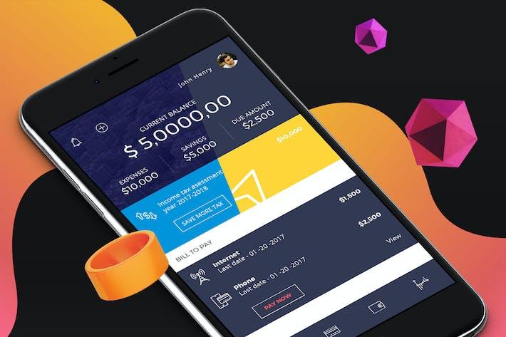 Thumbnail for Finance Mobile Ui - H