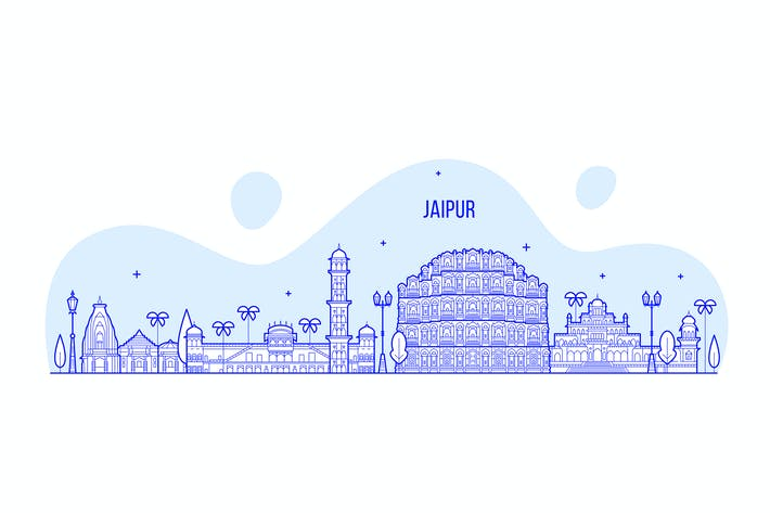 Thumbnail for Jaipur skyline, India
