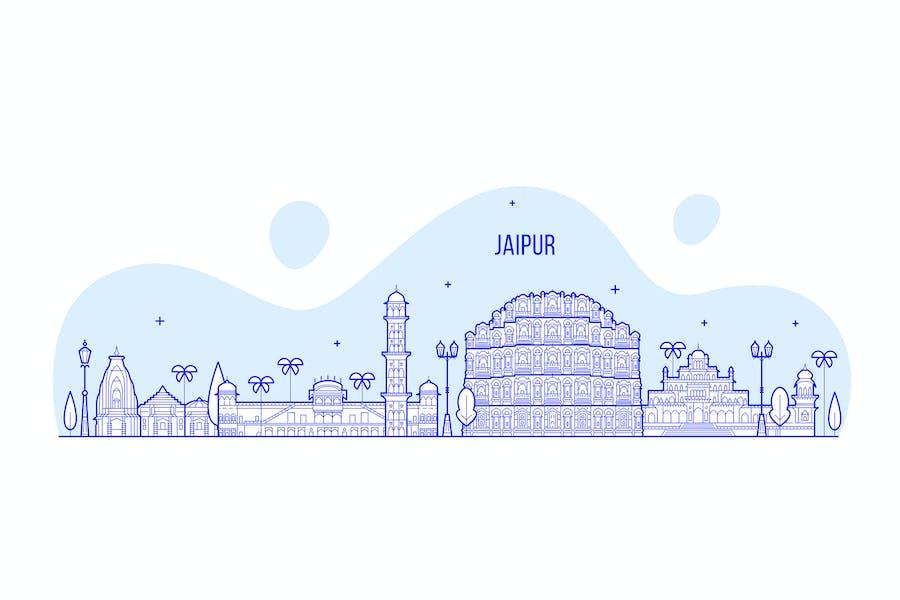 Jaipur skyline, India