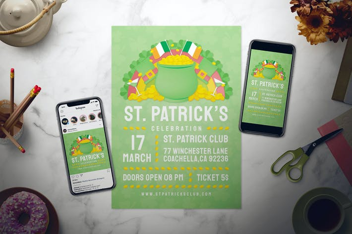 Thumbnail for St. Patrick's Day Flyer Set