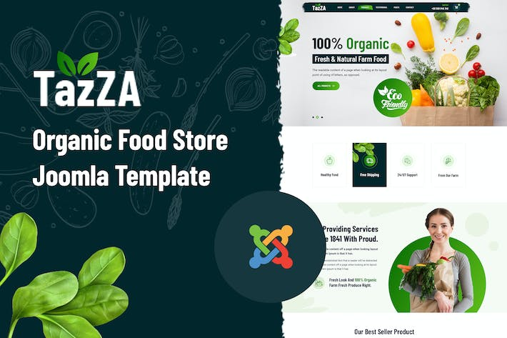 Thumbnail for TaZza — Joomla Magasin d'Alimentation Bio Modèle