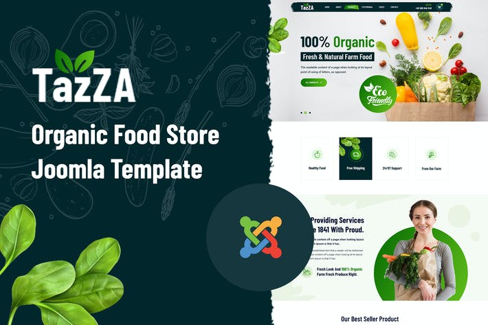 Thumbnail for TazZa — Plantilla Joomla Tienda de Alimentos Orgánicos