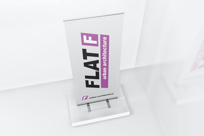 Thumbnail for Roll Up Banner Stand Mockup