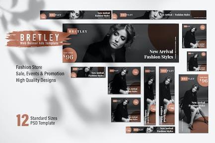 BRETLEY Fashion Store Web Banner Ads