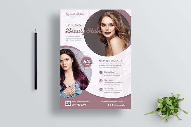 Hair Salon Flyer Design