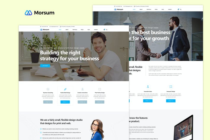 Thumbnail for Morsum - Agency PSD Template