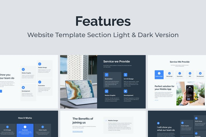 Web Service and Features Section Template