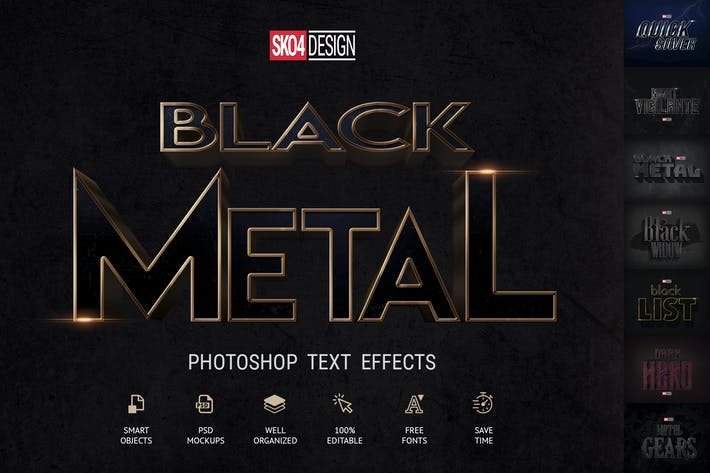 Thumbnail for Black & Metal — Maquettes PSD