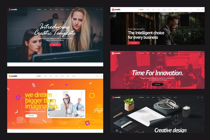 Thumbnail for Creatic - One Page Creative Parallax PSD Template