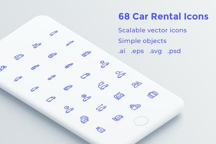 Car Rental Icons