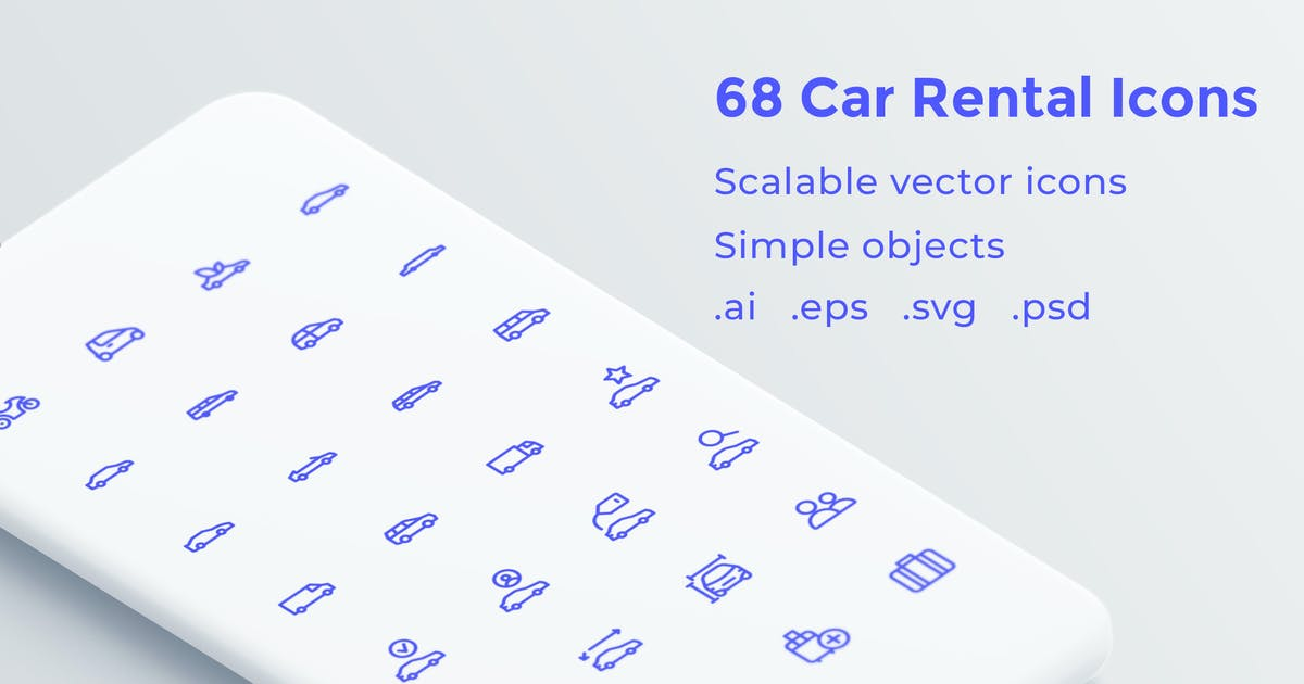 Car Rental Icons by Unknow