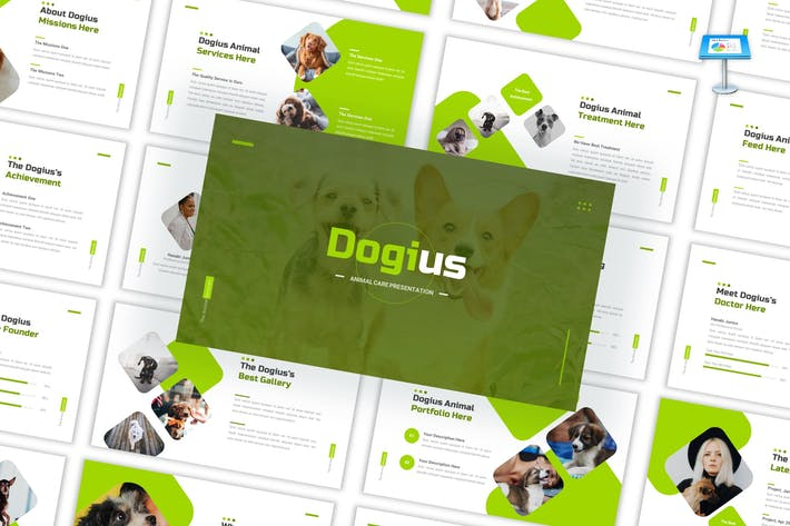 Dogius - Забота о Keynote Шаблон