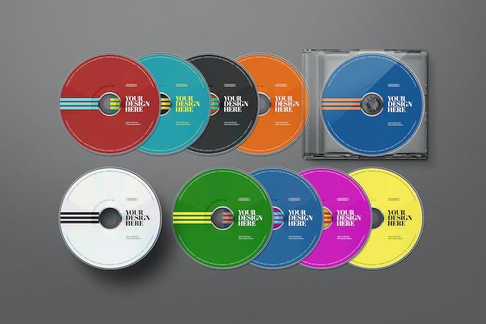 CD Mockups DVD Disk Set